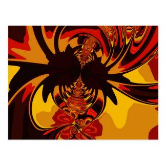 Carte Postale Féroce - créature ambre et orange