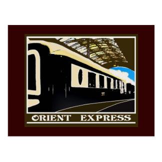 Carte postale ferroviaire classique d'express