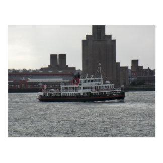 Carte Postale Ferry au-dessus de la rivière le Mersey