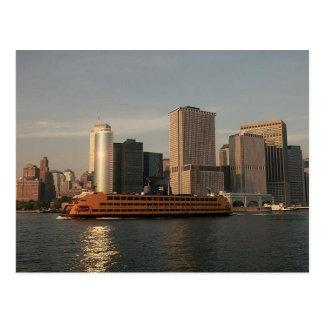 Carte Postale Ferry de Staten Island et Tours jumelles dans la