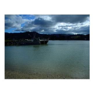 Carte Postale Ferry Tairua Nouvelle Zélande d'île de pantoufle
