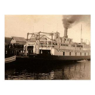 Carte Postale Ferry vintage de Victoria Anacortes
