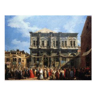 Carte Postale Festin de San Rocco par Canaletto