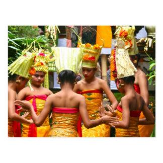 Carte Postale Festival de dévouement de temple de Balinese