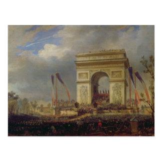 Carte Postale Fete de la Fraternite chez l'Arc de Triomphe