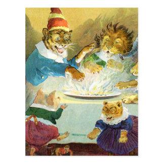 Carte Postale Fête de Noël chez la terre animale