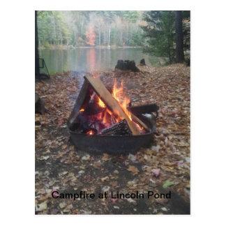 Carte Postale Feu de camp à l'étang de Lincoln