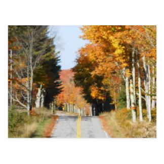 Carte Postale Feuille d'automne de Lake Placid de crêtes élevées