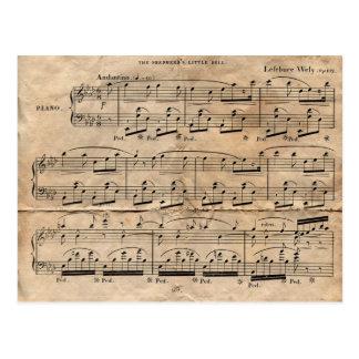 Carte Postale Feuille de musique