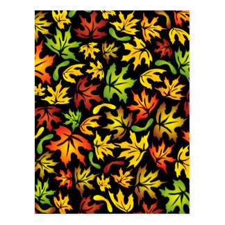 Carte Postale feuille d'érable d'automne