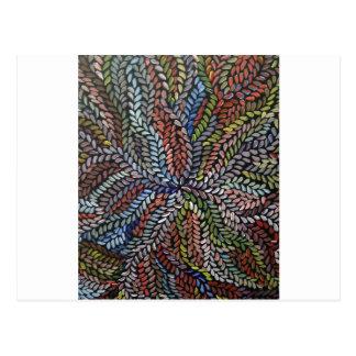 Carte Postale Feuille multicolore de médecine de buisson
