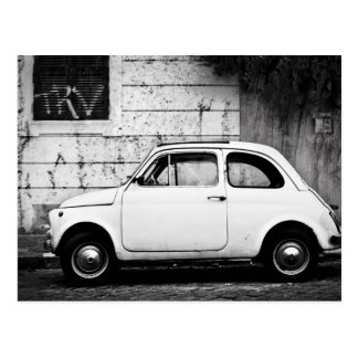Carte Postale Fiat 500 à Rome, Italie