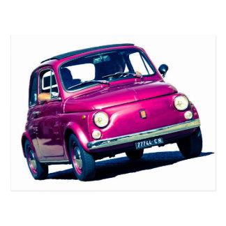 Carte Postale Fiat pourpre génial 500 Cinquecento en Italie