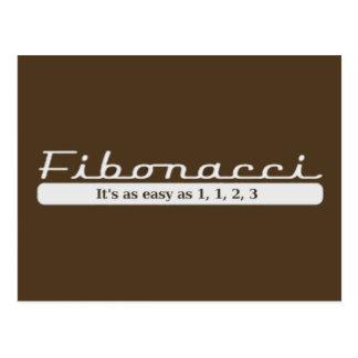 Carte Postale Fibonacci… Il est aussi facile que 1, 1, 2, 3
