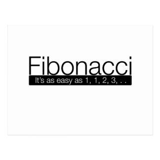 Carte Postale Fibonacci - il est aussi facile que 1, 2, 3.