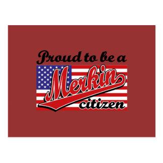 Carte Postale Fier d'être un citoyen de Merkin