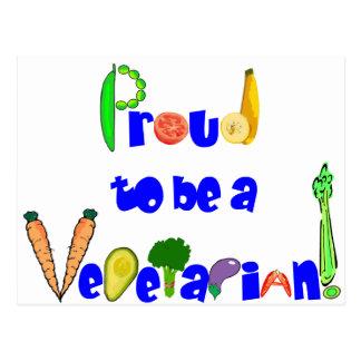 Carte Postale Fier d'être un végétarien