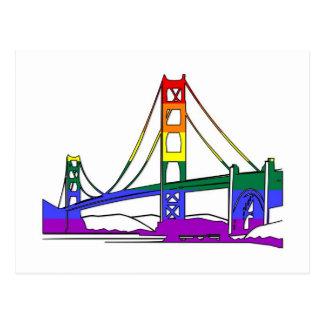 Carte Postale Fierté d'arc-en-ciel de golden gate bridge