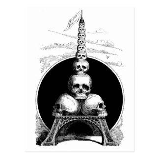 Carte Postale Figaro. Tour Eiffel pour le cimetière