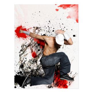 Carte Postale Fighter Hip hop dancer