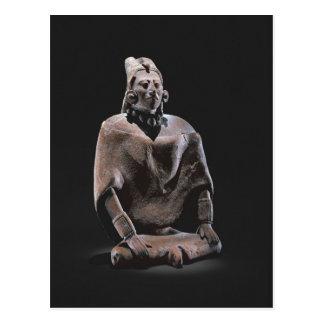 Carte Postale Figure de roi assis maya, d'ofJaina d'île