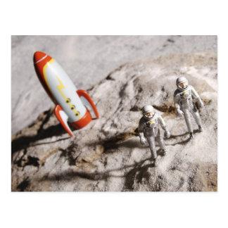 Carte Postale Figurines d'astronaute