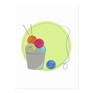 Carte Postale Fil à tricoter