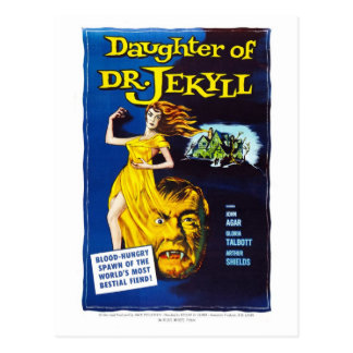 Carte Postale Fille de Dr. Jekyll Postcard