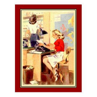 Carte Postale Fille de fonctionnement