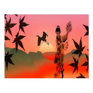 Carte Postale Fille de geisha
