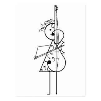 Carte Postale Fille de violoncelle