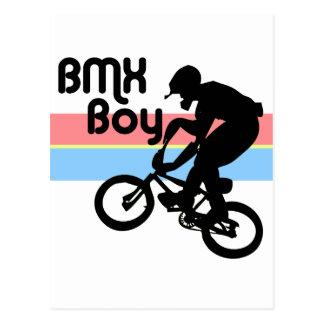 Carte Postale Fille du garçon de BMX/BMX