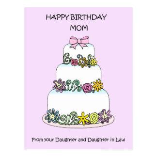 Carte Postale Fille et belle-fille de maman de joyeux