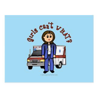 Carte Postale Fille légère d'infirmier d'EMT