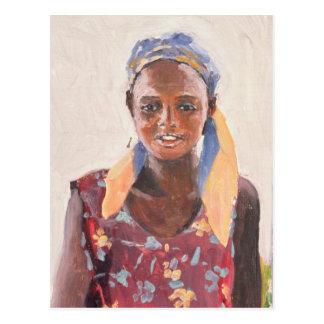 Carte Postale Fille malgache 1989