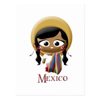 Carte Postale Fille mexicaine