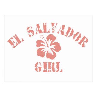 Carte Postale Fille rose du Salvador