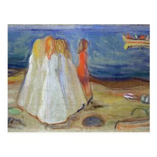 Carte Postale Filles au bord de la mer, 1906