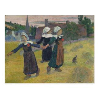 Carte Postale Filles bretonnes dansant - Paul Gauguin