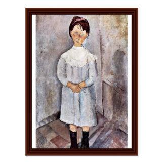 Carte Postale Filles dans le bleu par Modigliani Amedeo