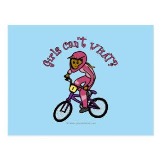 Carte Postale Filles roses foncées BMX