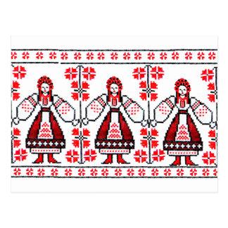 Carte Postale Filles ukrainiennes traditionnelles de l'Ukraine