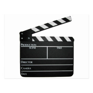 Carte Postale Film de clapet d'ardoise de film de bardeau