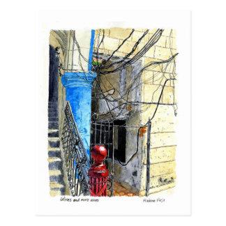 Carte Postale Fils et plus de fils, vieille La Havane, Cuba