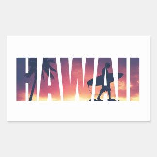 Carte postale filtrée par cru d'Hawaï Sticker Rectangulaire