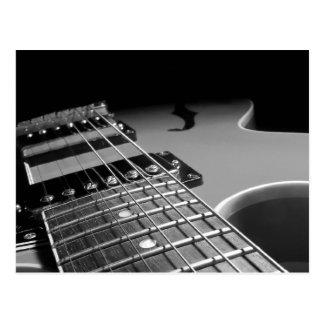 Carte Postale Fin de guitare électrique - B&W gris