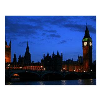 Carte Postale Fin de soirée, Westminster, Londres