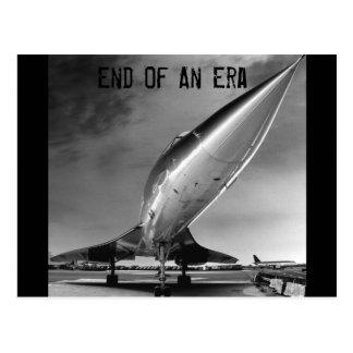 Carte Postale Fin d'une ère, Concorde, New York