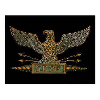Carte Postale Finition romaine d'en cuivre d'Eagle