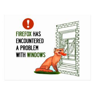 Carte Postale Firefox a rencontré un problème avec des fenêtres